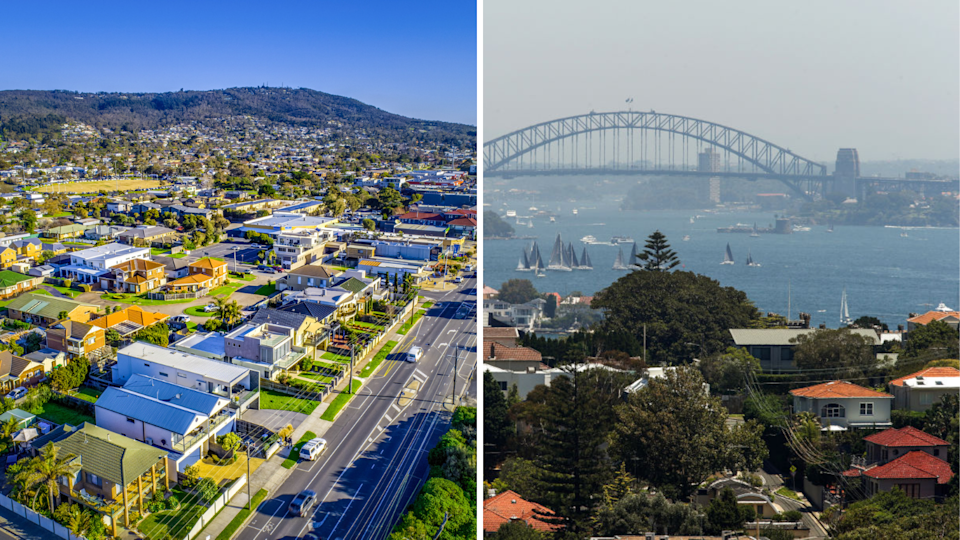 House values in pockets of Melbourne and Sydney have slid by double digits. (Source: Getty)