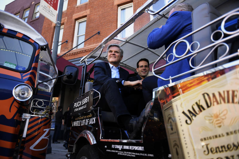 DENVER, CO - OCTOBER 04: Steve Case, co-founder of AOL, arrives at the Turing School of Software & Design in downtown Denver as part of his Rise of the Rest tour to highlight startups outside of Silicon Valley. October 04, 2016 Denver, CO. (Photo By Joe Amon/The Denver Post via Getty Images)