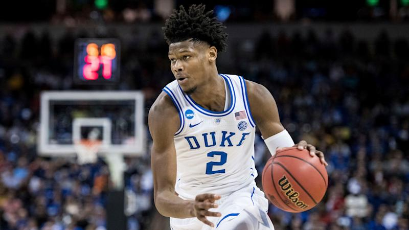 Duke forward Cam Reddish (2) dribbles the ball during the first half of a first-round game in the NCAA men's college basketball tournament Friday, March 22, 2019, in Columbia, S.C. (AP Photo/Sean Rayford)