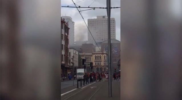 Those in the George Street area are advised to 'exercise caution'. Source: Twitter