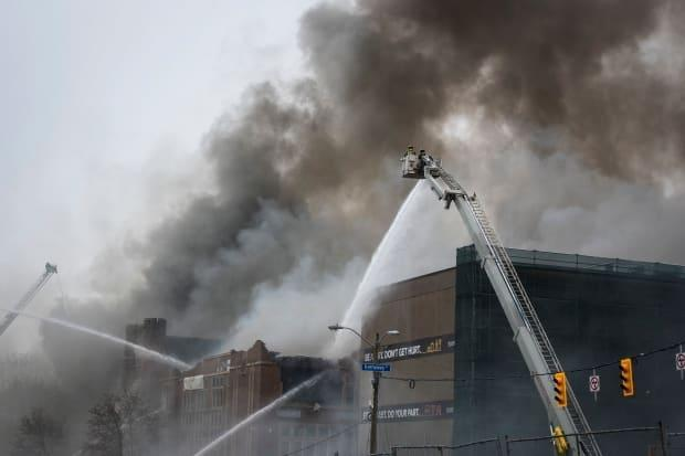 The fire that devastated York Memorial Collegiate Institute in Toronto happened on May 6, 2019. (Tijana Martin/The Canadian Press - image credit)
