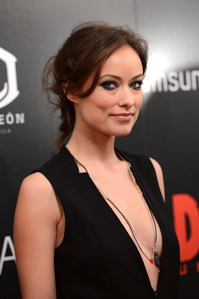 "NEW YORK, NY - DECEMBER 11:  Olivia Wilde attends The Weinstein Company With The Hollywood Reporter, Samsung Galaxy And The Cinema Society Host A Screening Of ""Django Unchained"" at Ziegfeld Theater on December 11, 2012 in New York City.  (Photo by Stephen Lovekin/Getty Images)"