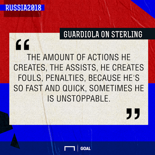 The Manchester City forward has netted just twice for his country but still has a key role to play for Gareth Southgate's side in Russia