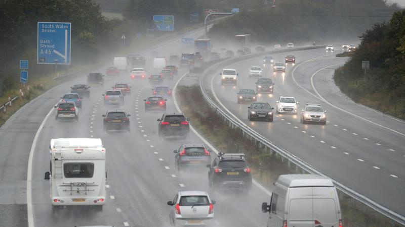 Weather warnings in place as rain lashes UK