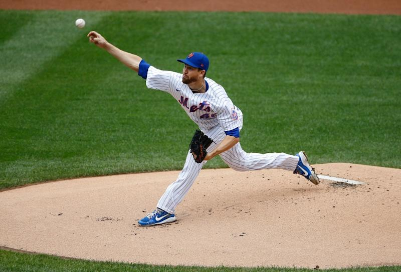 Jacob deGrom delivers a pitch at Citi Field