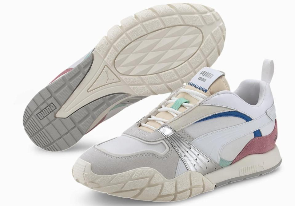 "<p>These <a href=""https://www.popsugar.com/buy/Kyron-Awakening-Women-Sneakers-Pink-Silver-582733?p_name=Kyron%20Awakening%20Women%27s%20Sneakers%20%E2%80%94%20Pink%20and%20Silver&retailer=us.puma.com&pid=582733&price=90&evar1=fab%3Aus&evar9=47571677&evar98=https%3A%2F%2Fwww.popsugar.com%2Ffashion%2Fphoto-gallery%2F47571677%2Fimage%2F47571738%2FKyron-Awakening-Women-Sneakers&list1=shopping%2Cshoes%2Csneakers%2Csummer%2Csummer%20fashion%2Cfashion%20shopping&prop13=mobile&pdata=1"" rel=""nofollow noopener"" class=""link rapid-noclick-resp"" target=""_blank"" data-ylk=""slk:Kyron Awakening Women's Sneakers - Pink and Silver"">Kyron Awakening Women's Sneakers - Pink and Silver</a> ($90) will sell fast, no doubt.</p>"