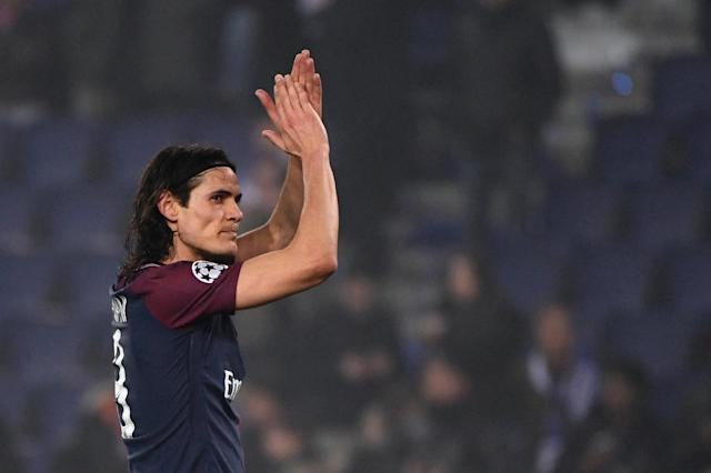 In the absence of Neymar, will viewers in China and elsewhere in Asia tune in to watch Edinson Cavani and Paris Saint-Germain take on Nice? (AFP Photo/PIERRE-PHILIPPE MARCOU)