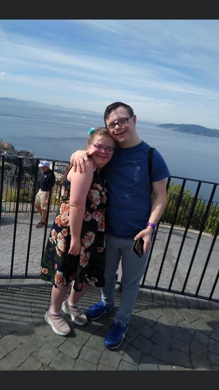 Heidi Crowter and her husband, James, pictured on holiday. (Supplied)