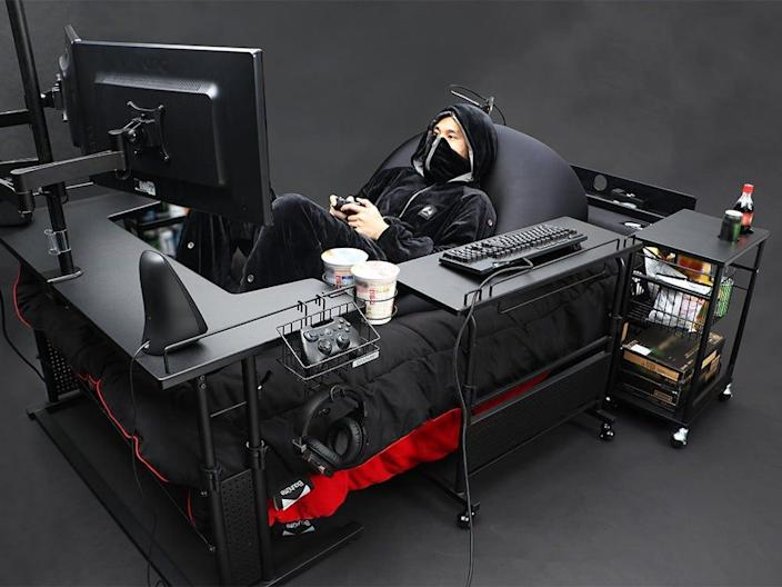 Gaming bed concept.