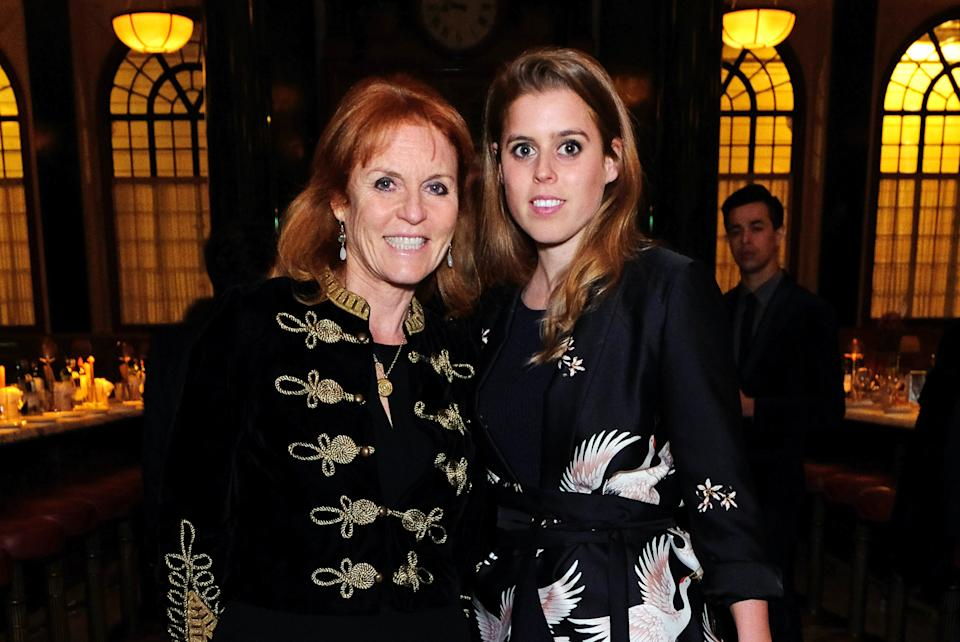 LONDON, ENGLAND - APRIL 26:  Sarah Ferguson, Duchess of York, and Princess Beatrice of York attend the launch of The Ned, London on April 26, 2017 in London, England.  (Photo by David M Benett/Dave Benett/Getty Images for The Ned London)