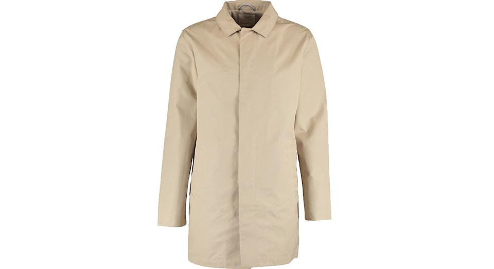 KNOWLEDGE COTTON Stone Trench Overcoat
