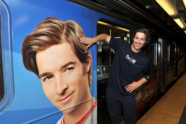 "NEW YORK, NY - JULY 16: ""Mane Man"" C.J. Wilson rides the Head & Shoulders Branded 7 Train during MLB All-Star Week on July 16, 2013 in New York City. (Photo by D Dipasupil/Getty Images for Head & Shoulders)"