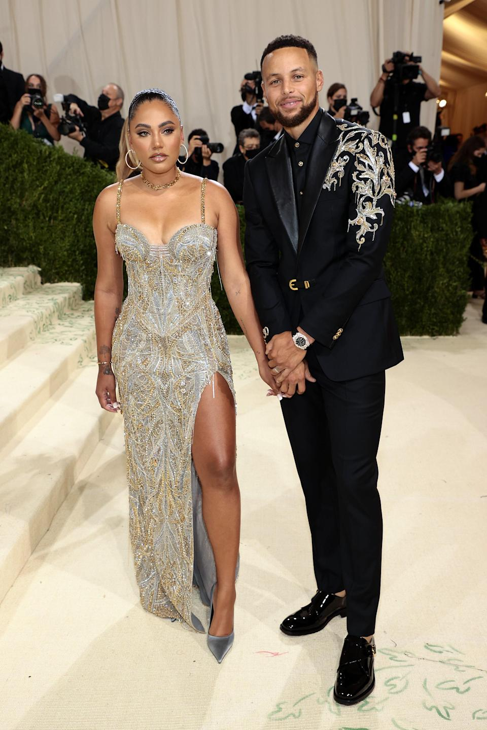 """<h1 class=""""title"""">Ayesha Curry and Stephen Curry, The 2021 Met Gala Celebrating In America: A Lexicon Of Fashion - Arrivals</h1><cite class=""""credit"""">Getty</cite>"""
