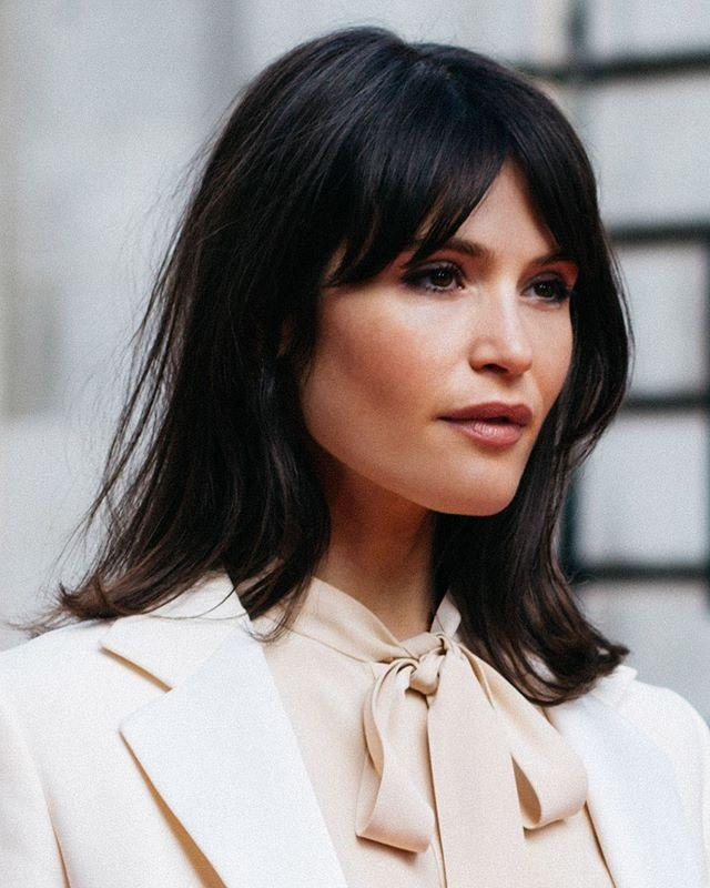 """<p>Bangs on a mid-length style makes the cut look more intentional, instead of a grown-out bob (if that's what you're sporting). Gemma Arterton has nailed the parted grown-out fringe look. Chic.</p><p><a href=""""https://www.instagram.com/p/B9ezcGag0iS/?utm_source=ig_embed&utm_campaign=loading"""">See the original post on Instagram</a></p>"""