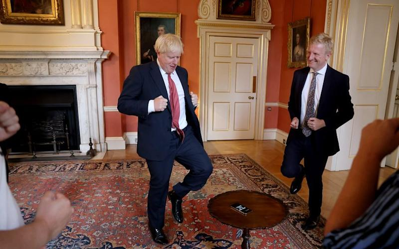Boris Johnson Boris Johnson and his Culture Secretary Oliver Dowden tried out a gaming fitness app - Andrew Parsons / No10 Downing St