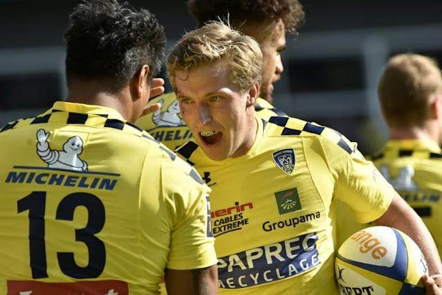 Australian fly-half Jake McIntyre was making his competitve debut for Clermont after joining as Rugby World Cup cover for Camille Lopez (AFP Photo/THIERRY ZOCCOLAN)