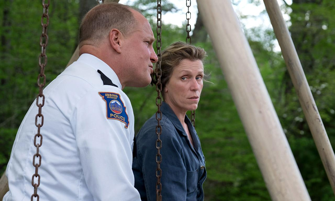 <p>Already being talked up as a serious awards season contender – notably for Frances McDormand's performance as a mother who takes matters into her own hands when local police fail to find her daughter's killer – <i>In Bruge</i> and <i>Seven Psychopaths</i> director Martin McDonagh has struck gold once again. Woody Harrelson, Sam Rockwell, John Hawkes and Peter Dinklage also star. </p>