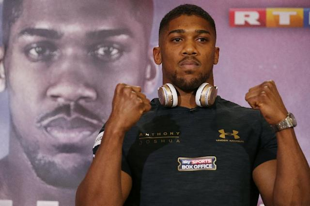 Britain's Anthony Joshua believes he will be too young and sharp for his 41-year-old opponent Ukraine's Wladimir Klitschko, who has not boxed for 17 months (AFP Photo/Daniel LEAL-OLIVAS)