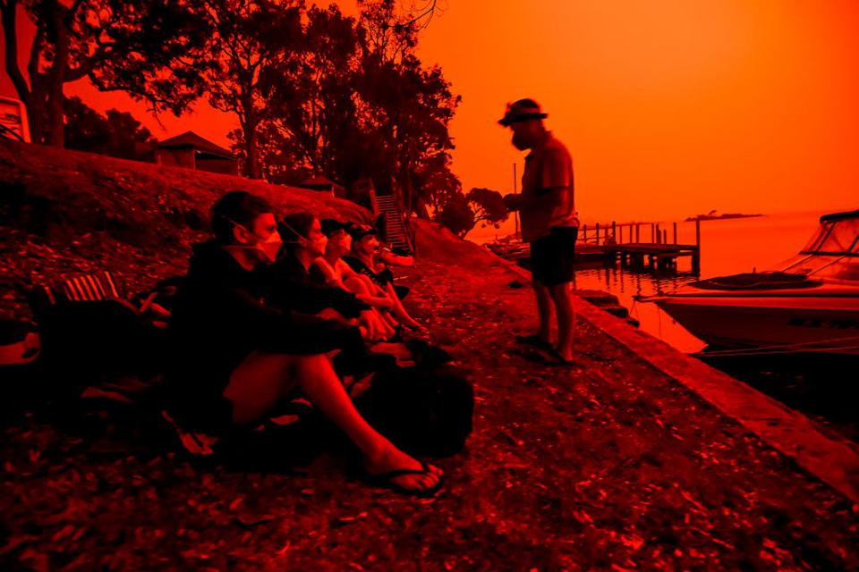 Australia's bushfires are predicted to worsen as global temperatures trend higher. Source: Getty