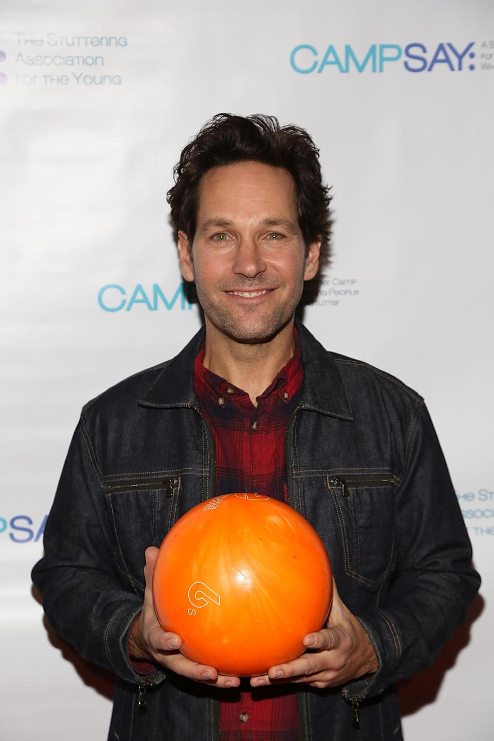 Paul Rudd at his seventh annual Paul Rudd All-Star Bowling Benefit for the Stuttering Association for the Young (SAY) at Lucky Strike Manhattan. (Photo: Manny Carabel/Getty Images)