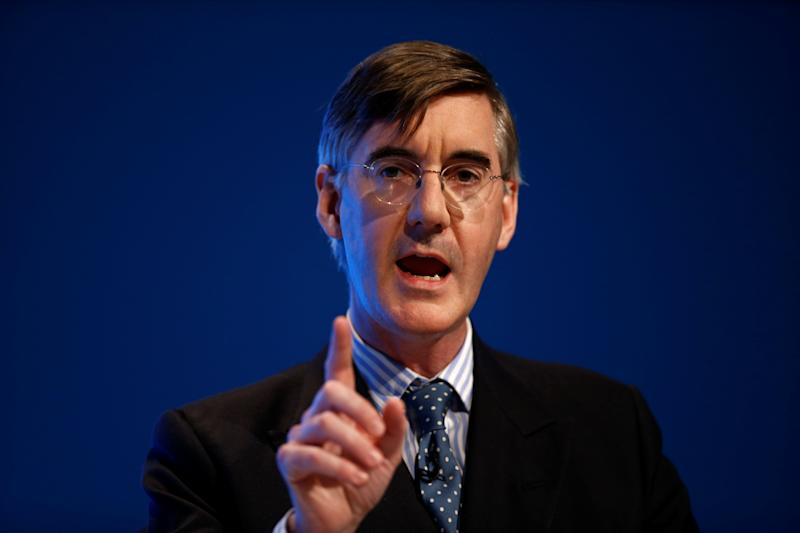 Britain's Leader of the House of Commons Jacob Rees-Mogg speaks during the Conservative Party annual conference in Manchester, Britain, September 29, 2019. REUTERS/Henry Nicholls