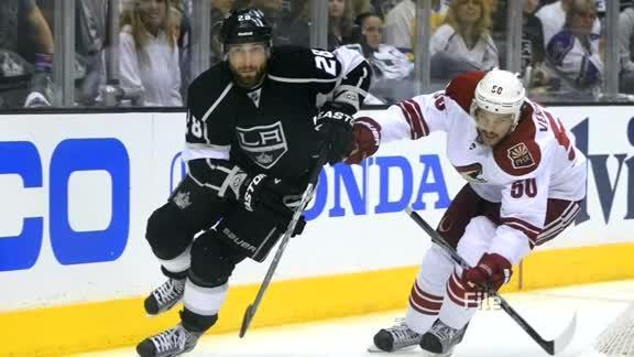 """Police say Los Angeles Kings player Jarret Stoll was arrested at a Las Vegas resort pool for carrying cocaine and the party drug MDMA, also known as """"Molly."""" Linda So reports."""
