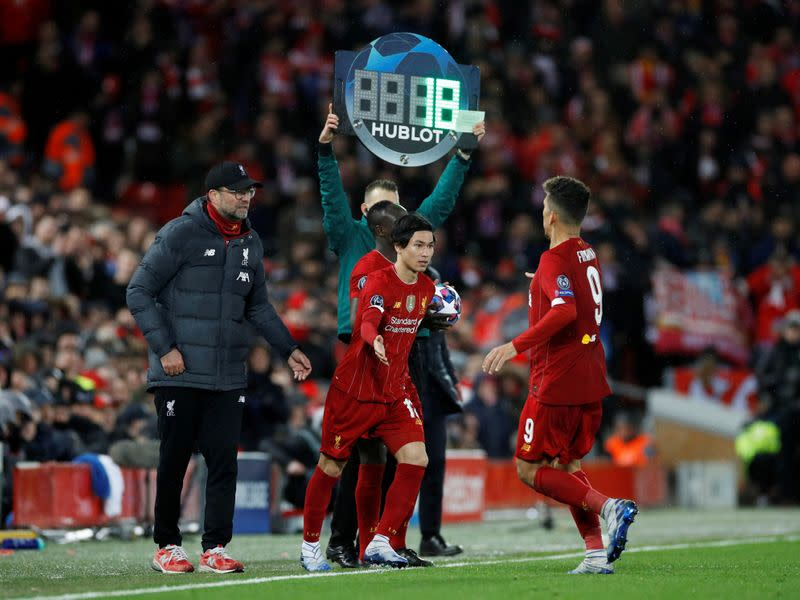FILE PHOTO: Champions League - Round of 16 Second Leg - Liverpool v Atletico Madrid