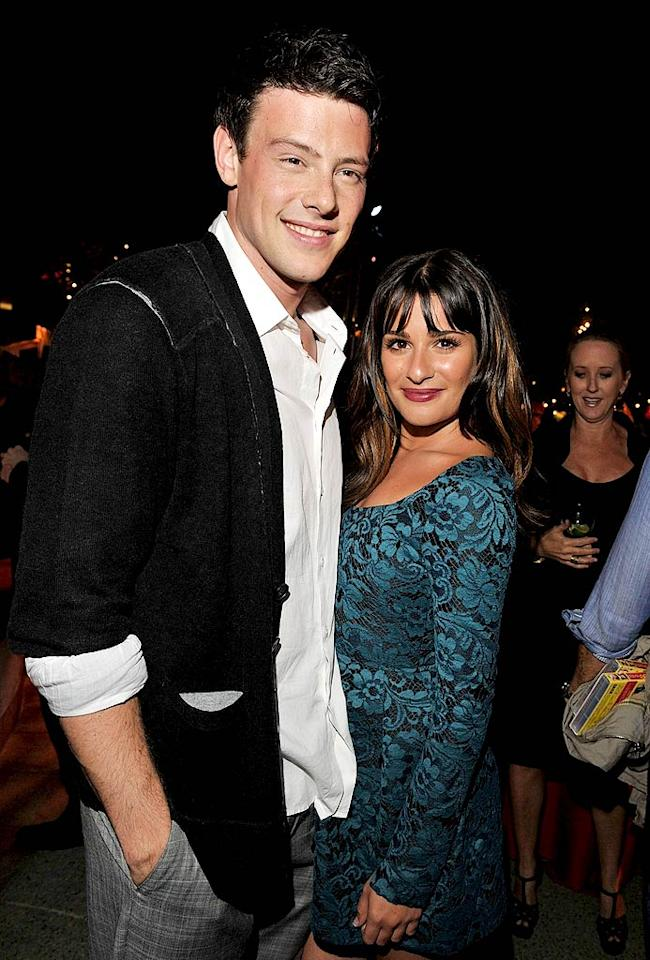 "Cory Monteith and Lea Michele got their party on at a special ""Glee"" screening held at Paramount Studios in Hollywood. The hit show's second season premieres on September 21. Lester Cohen/<a href=""http://www.wireimage.com"" target=""new"">WireImage.com</a> - September 7, 2010"
