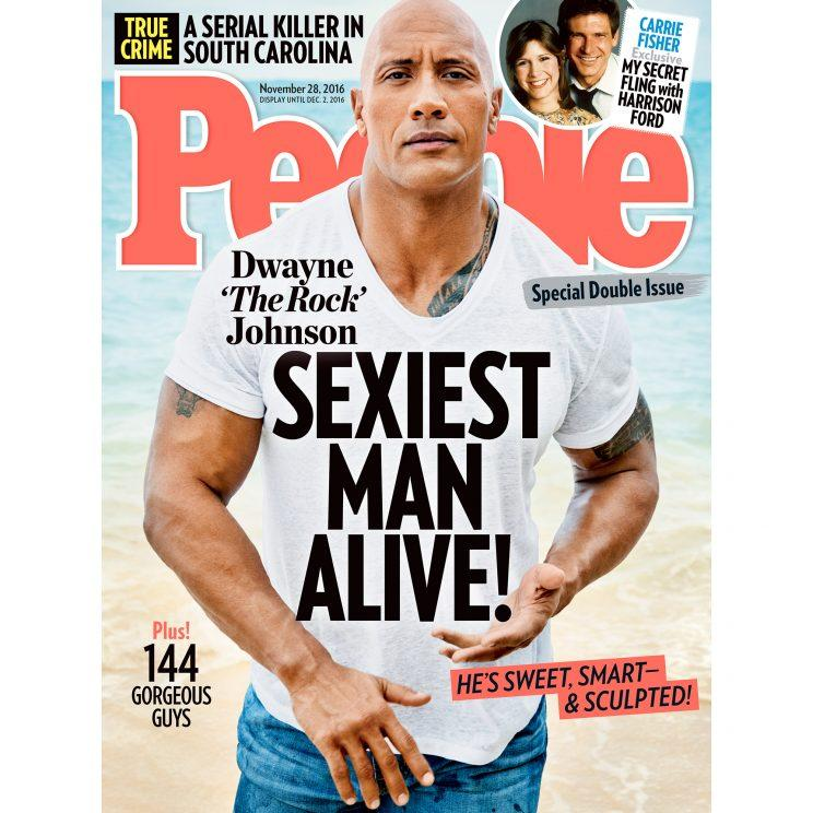 Dwayne Johnson on cover of People Magazine