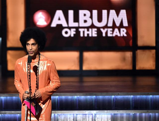 Prince onstage during the 57th Annual Grammy Awards on Feb. 8, 2015, in Los Angeles. (Photo: Getty Images)