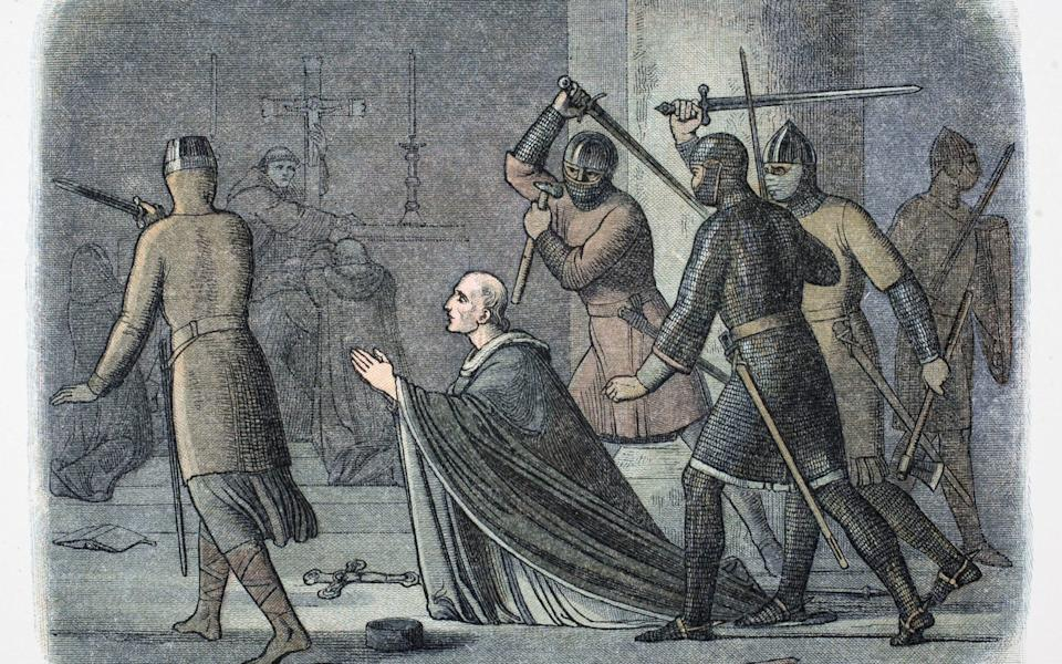 Murder of St Thomas Becket - Hulton Archive