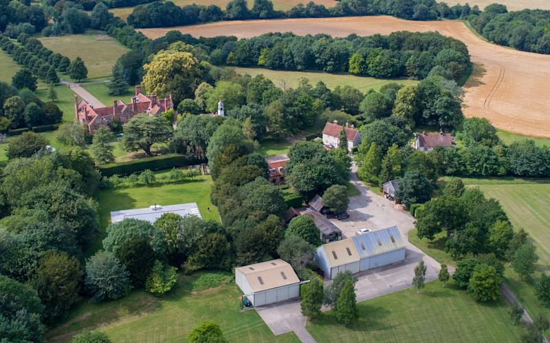 Coldham Hall, pictured top left, the home of Claudia Schiffer and Coldham Hall Cottage, middle right, in Suffolk - Bav Media