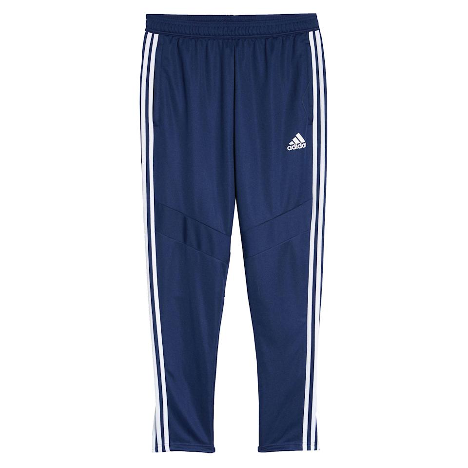 """<p><strong>Adidas</strong></p><p>nordstrom.com</p><p><a href=""""https://go.redirectingat.com?id=74968X1596630&url=https%3A%2F%2Fwww.nordstrom.com%2Fs%2Fadidas-tiro-soccer-training-pants%2F4986545&sref=https%3A%2F%2Fwww.esquire.com%2Fstyle%2Fmens-fashion%2Fg35967248%2Fnordstrom-mens-sale-march-2021%2F"""" rel=""""nofollow noopener"""" target=""""_blank"""" data-ylk=""""slk:Shop Now"""" class=""""link rapid-noclick-resp"""">Shop Now</a></p><p><strong><del>$45.00</del> $27.00 (40% off)</strong></p><p>For working out. Or...not.</p>"""