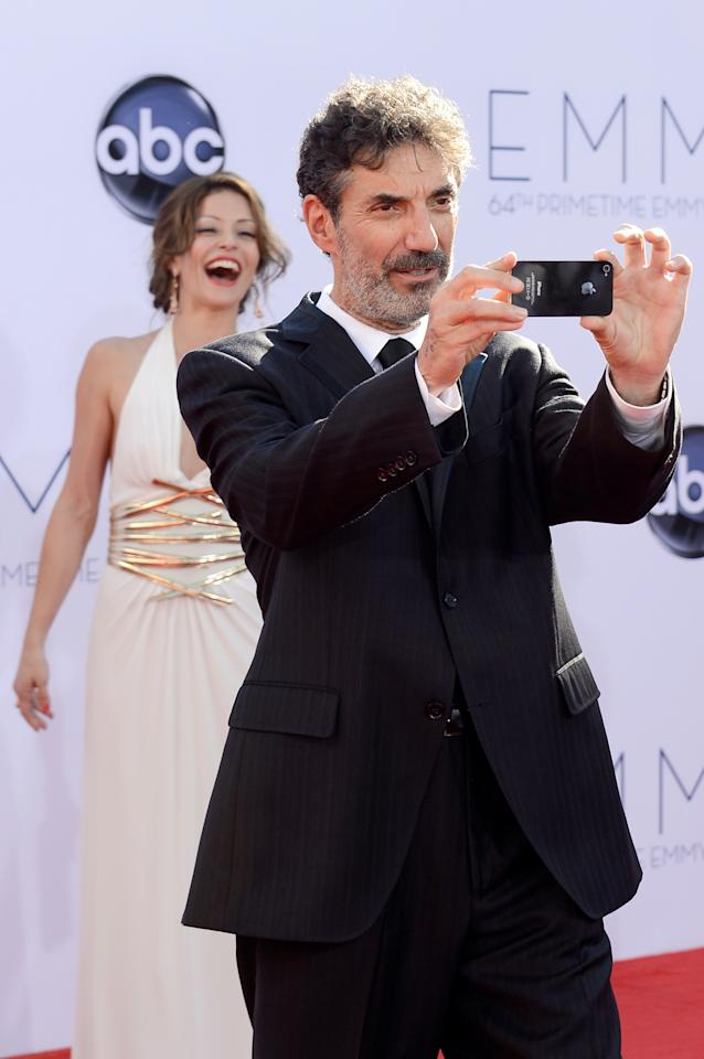 LOS ANGELES, CA - SEPTEMBER 23:  Producer Chuck Lorre arrives at the 64th Annual Primetime Emmy Awards at Nokia Theatre L.A. Live on September 23, 2012 in Los Angeles, California.  (Photo by Kevork Djansezian/Getty Images)