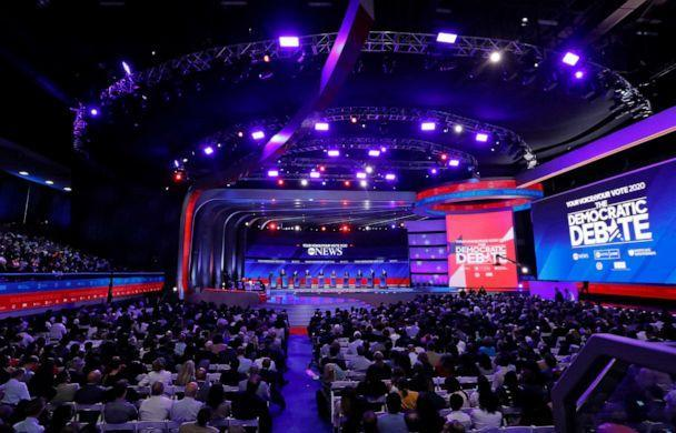 PHOTO: Democratic presidential hopefuls stand onstage during the third Democratic primary debate of the 2020 presidential campaign season hosted by ABC News in partnership with Univision at Texas Southern University in Houston, Tx on Sept. 12, 2019. (Heidi Gutman/Walt Disney Television, FILE)