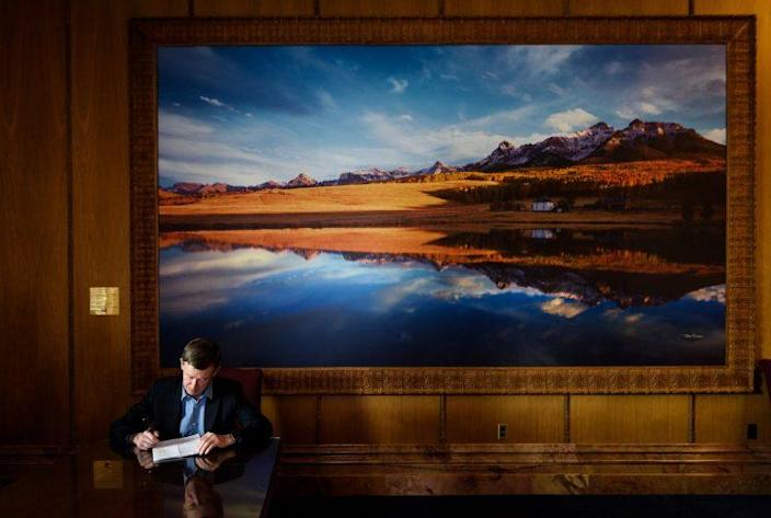 Colorado Governor John Hickenlooper in the Colorado State Capitol. (Photo: Carl Bower for Yahoo News)