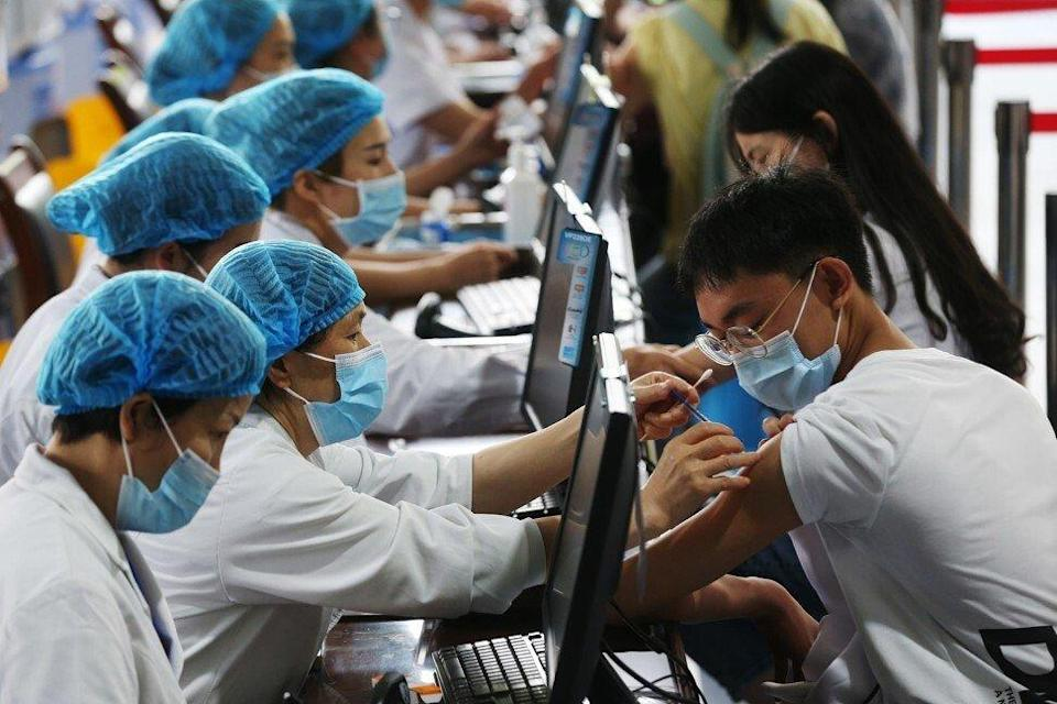So far, only inactivated vaccines by Sinopharm and Sinovac have been approved for emergency use for those aged 3 years and older in China. Photo: DPA