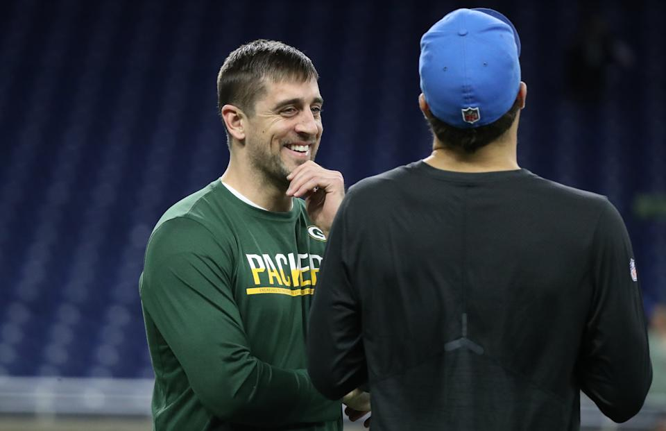 Aaron Rodgers might be the crown jewel of the NFL's quarterback market. It's more likely at this point he won't leave Green Bay. But who knows? (Photo by Leon Halip/Getty Images)
