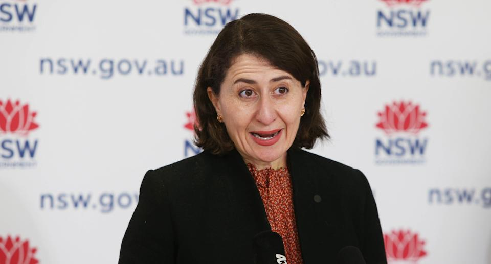 NSW Premier Gladys Berejiklian speaks during a COVID-19 update and press conference in Sydney, Friday, August 27, 2021. Source: AAP