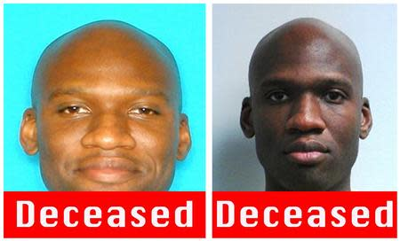 A combination photo shows Aaron Alexis, who the FBI believe to be responsible for the shootings at the Washington Navy Yard in the Southeast area of Washington, DC, is shown in this handout photo released by the FBI on September 16, 2013. REUTERS/FBI/Handout via Reuters