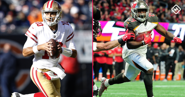 <p>Fantasy Football Week 14 Waiver Pickups: Jimmy Garoppolo, Peyton Barber among notable performers</p>