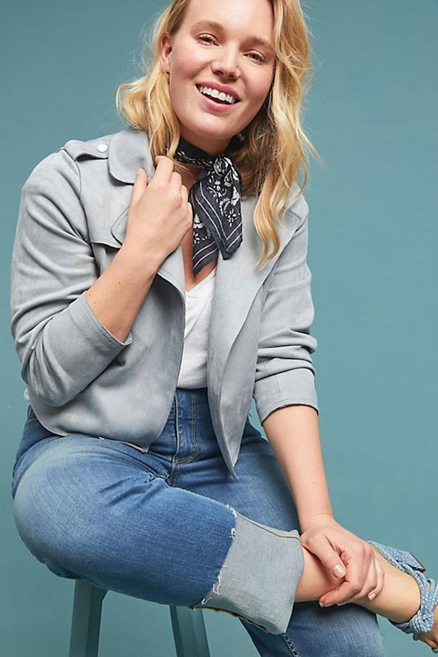 """$150, Anthropologie. <a rel=""""nofollow"""" href=""""https://www.anthropologie.com/shop/expressway-moto-jacket?category=plus-size-jackets&color=048&type=PLUS&viewcode=c"""">Get it now!</a>"""