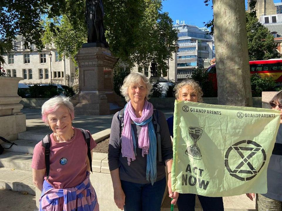 Members of Extinction Rebellion Grandparents and Elders say they stand in solidarity with young people (Supplied)