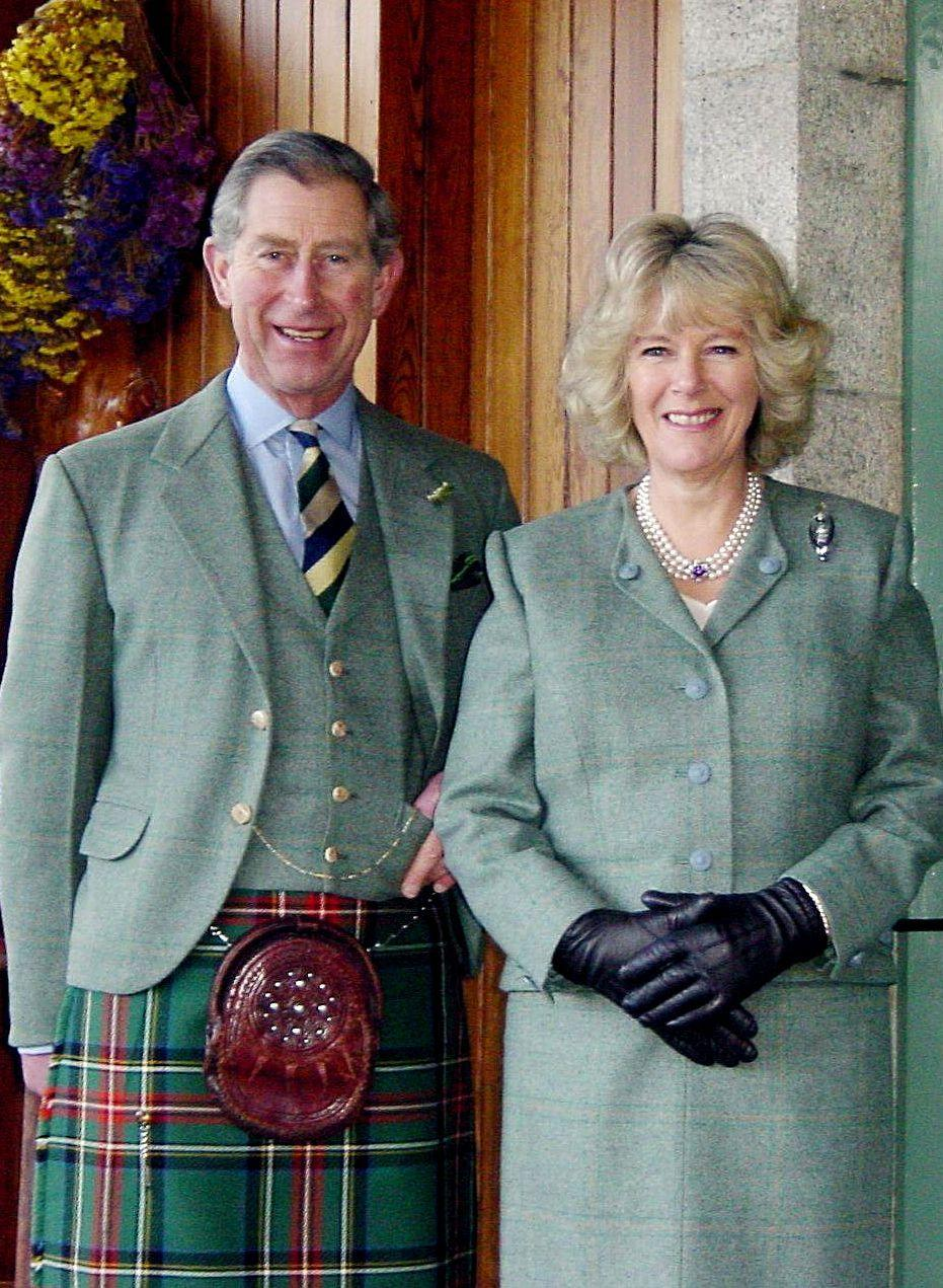 <p>Charles and Camilla took their engagement photos at Birkhall, a picture which would be recreated on their 15th anniversary, after they both exited social isolation during the coronavirus crisis. </p>