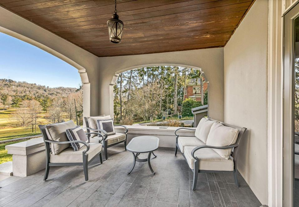<p>Before you head down to the speakeasy, enjoy daylight from one of the home's many outdoor spaces.</p>
