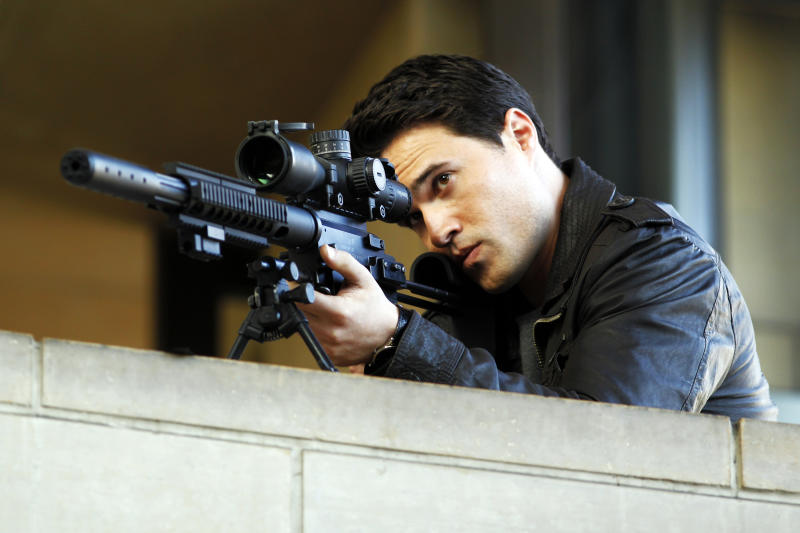 "This updated publicity photo provided by ABC shows co-star Brett Dalton in the premiere episode ""Pilot"" for ABC's TV series, ""Marvel's Agents of S.H.I.E.L.D.,"" co-created by Joss Whedon. The series premieres Tuesday, Sept. 24, 2013 (8:00-9:01 p.m., ET), on the ABC Television Network. (AP Photo/ABC, Justin Lubin)"