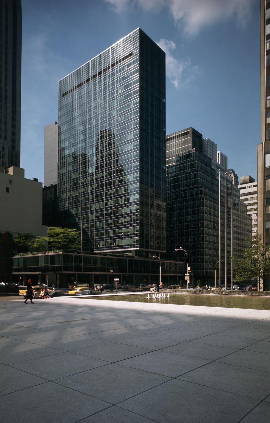 "<p>The <a href=""http://www.som.com/projects/lever_house"" rel=""nofollow noopener"" target=""_blank"" data-ylk=""slk:Lever House"" class=""link rapid-noclick-resp"">Lever House</a> is completed and opens on April 29, ushering in the glass-walled International Style that would become the trend for businesses through the decade.</p>"
