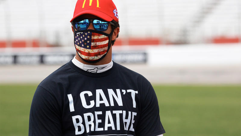 Bubba Wallace, driver of the #43 McDonald's Chevrolet, will drive a Black Lives Matter car. (Photo by Chris Graythen/Getty Images)