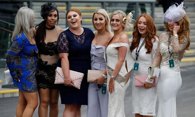 """<span class=""""element-image__caption"""">It's ladies' day at Aintree for day two of the Grand National meeting. </span> <span class=""""element-image__credit"""">Photograph: Phil Noble/Reuters</span>"""