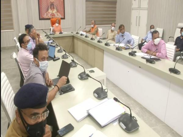 Uttar Pradesh Chief Minister Yogi Adityanath reviewed the COVID-19 situation in the state (Photo/ANI)